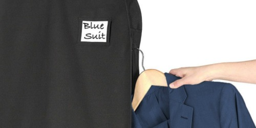 TWO Deluxe Garment Bags w/ Pockets Only $9 Shipped (Regularly $32)