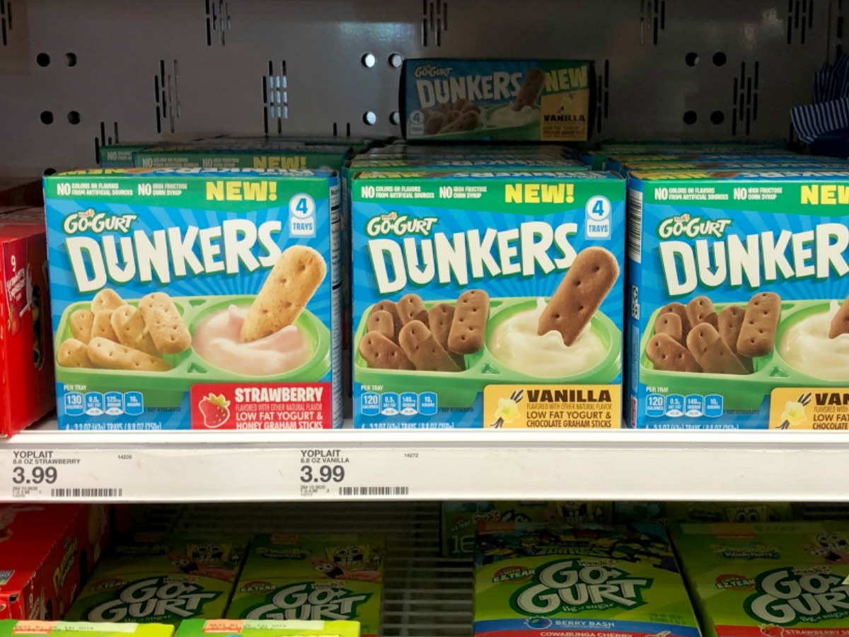 Danimals Smoothies Gogurt Yogurt More Only 99 At: Yoplait Go-Gurt Dunkers Only $2.49 Each After Cash Back