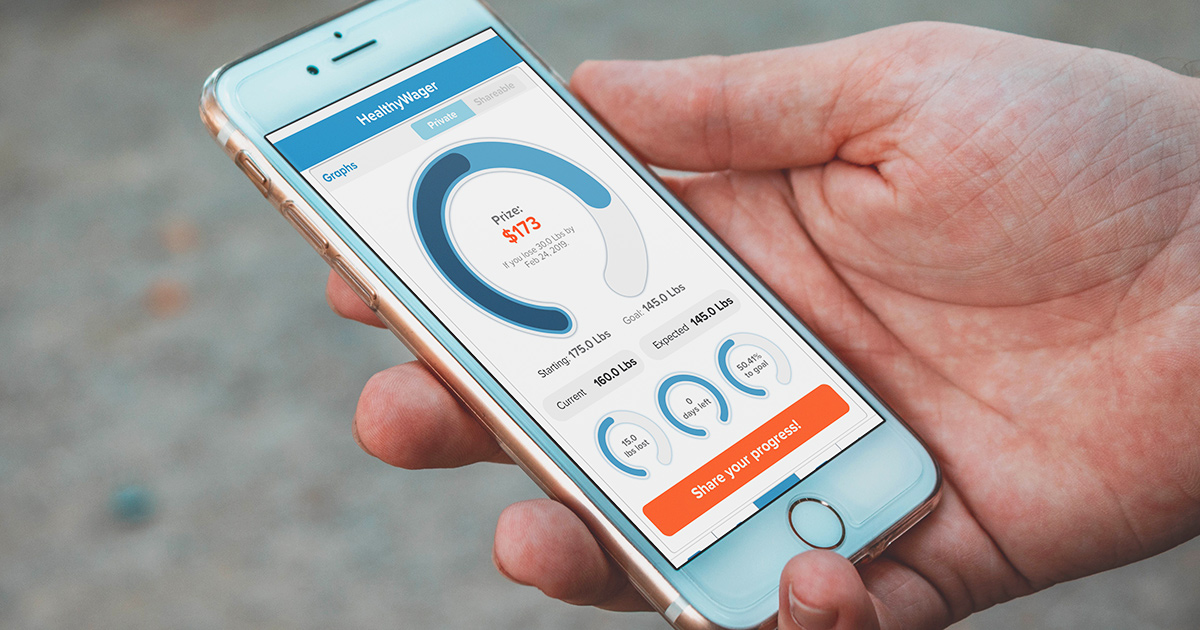 healthy wager app open on smartphone