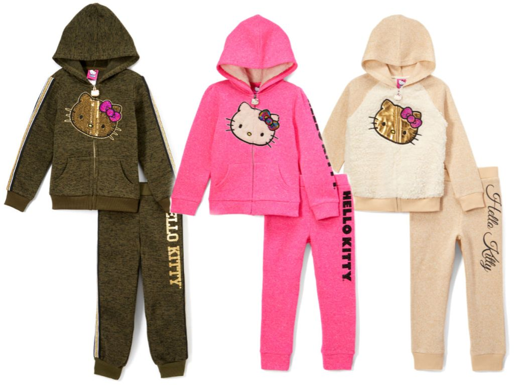 c12d57aa2 Hello Kitty Olive & Gold Marled Hoodie & Sweatpants Only $14.99 (regularly  $50)
