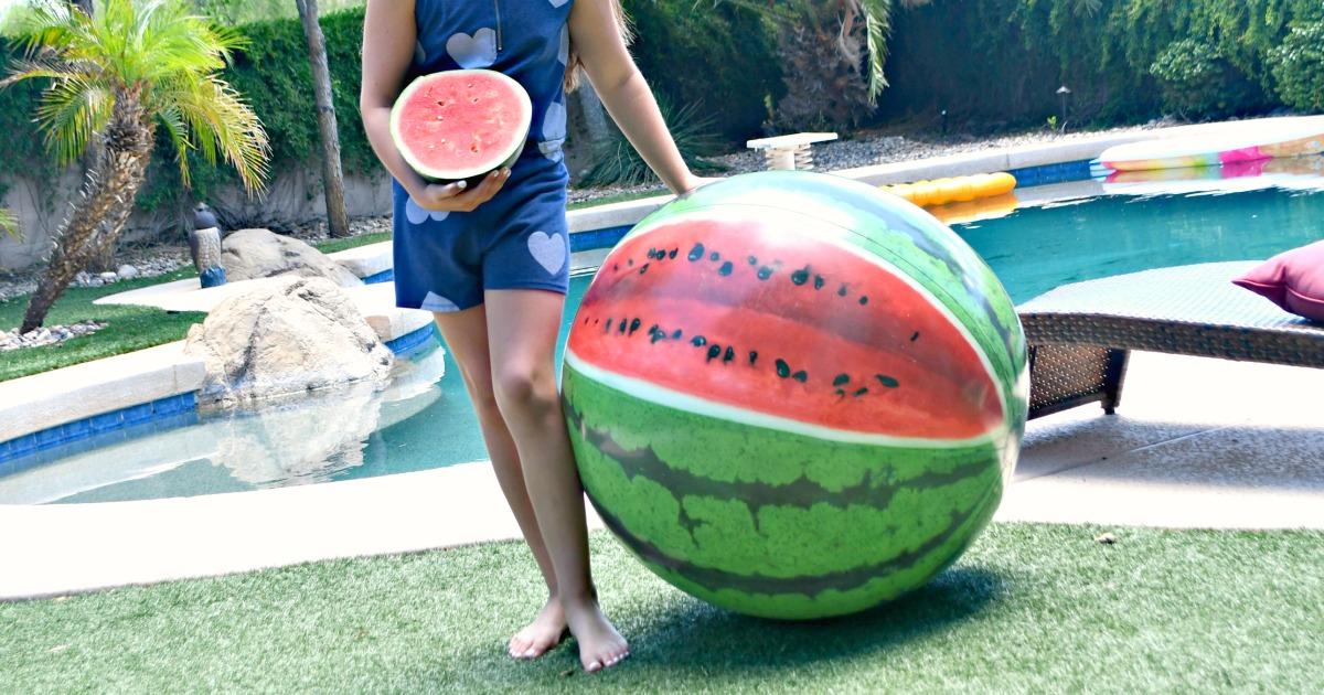 large Intex brand beach ball