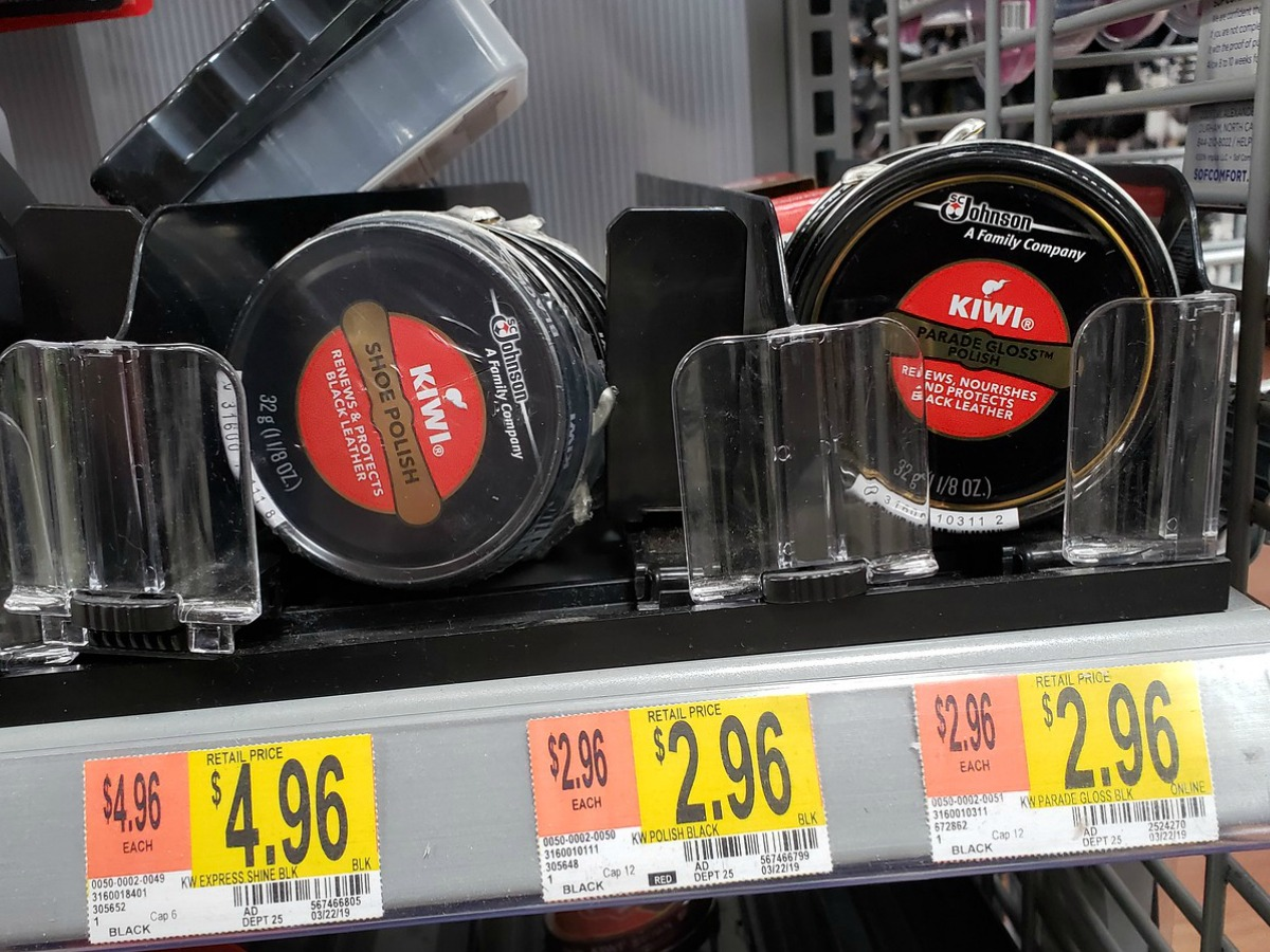 graphic about Shoe Department Printable Coupon identified as Higher Significance $2/1 KIWI Cleaner or Protector Coupon (+ Walmart