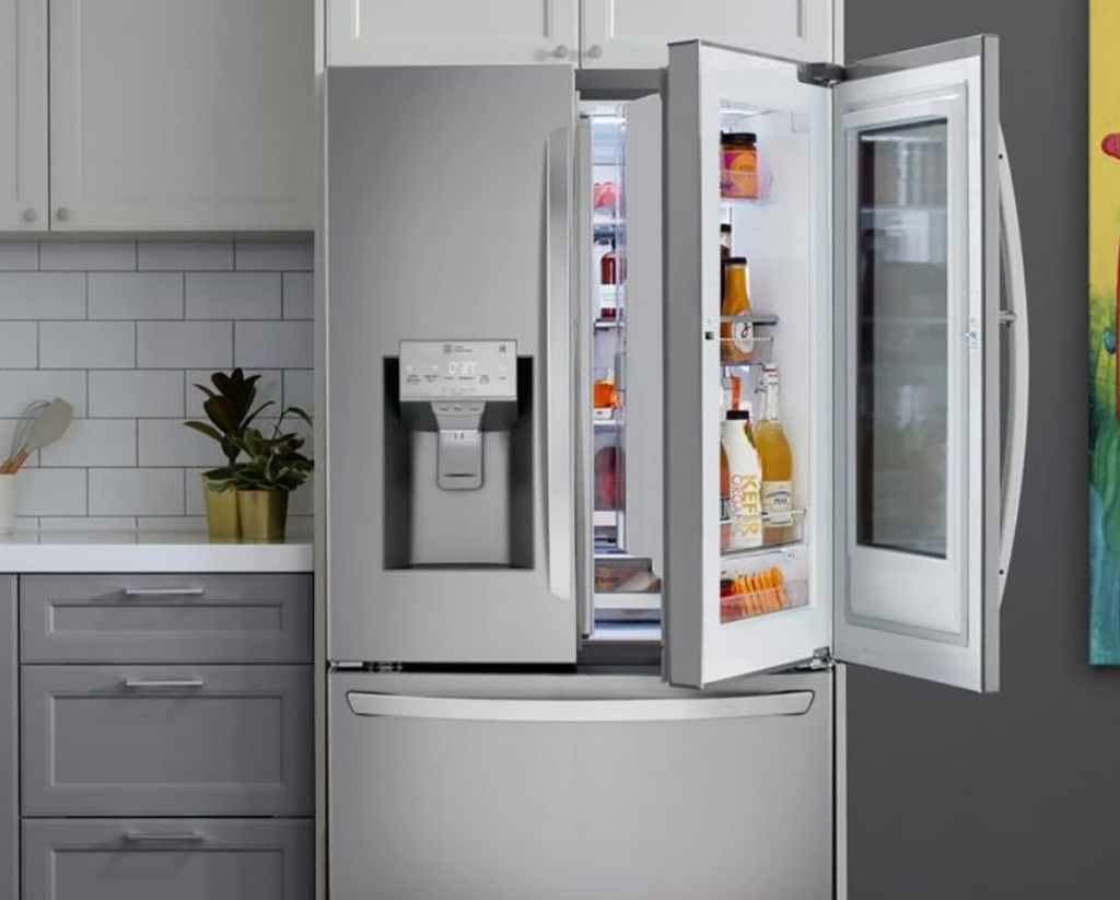 door-in-door fridge from LG