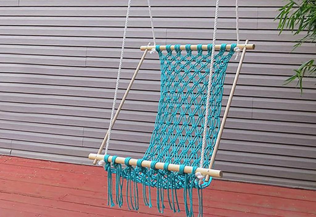 macrame hammock chair diy project