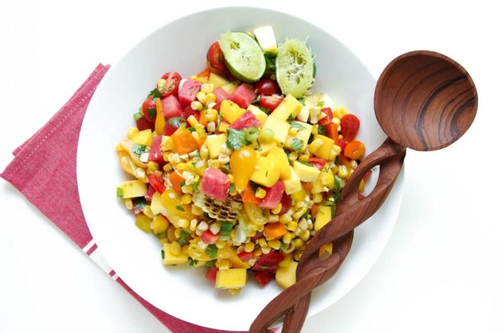 mango watermelon corn salad