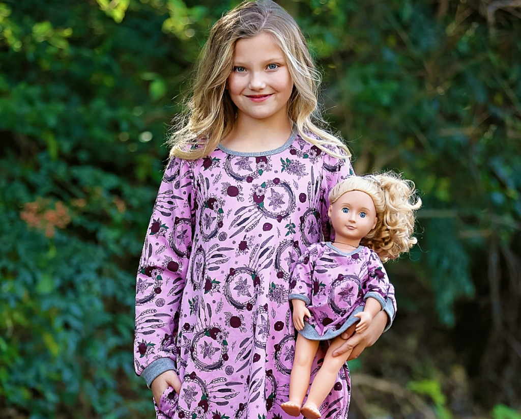 matching girl and doll dress sets