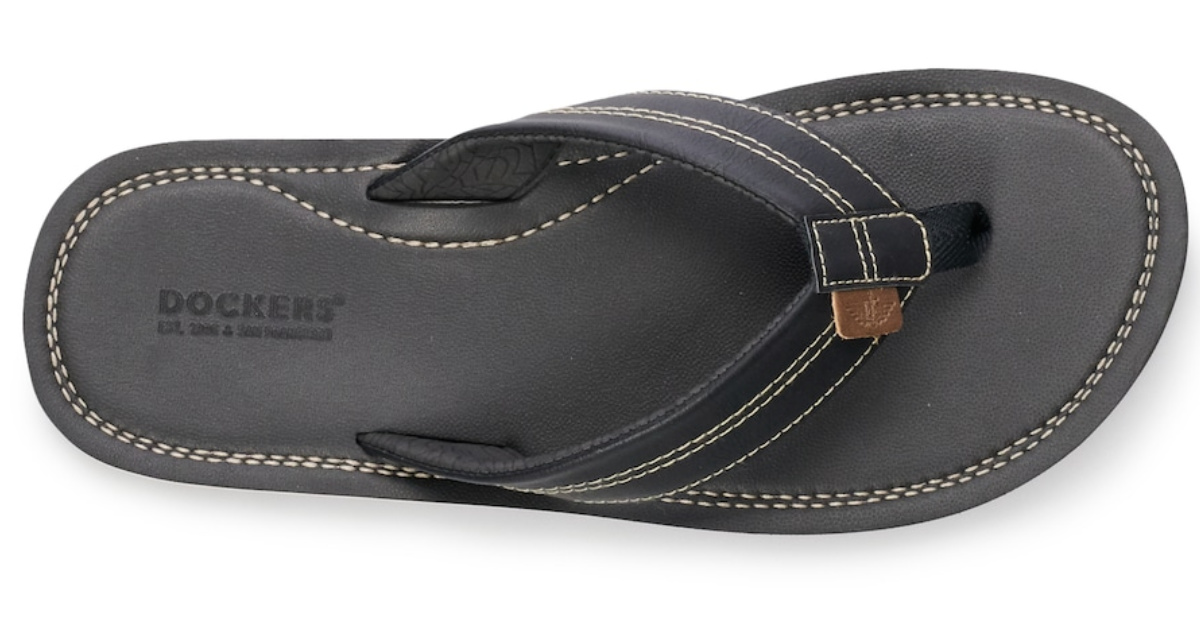 single men's dockers flip flop in black