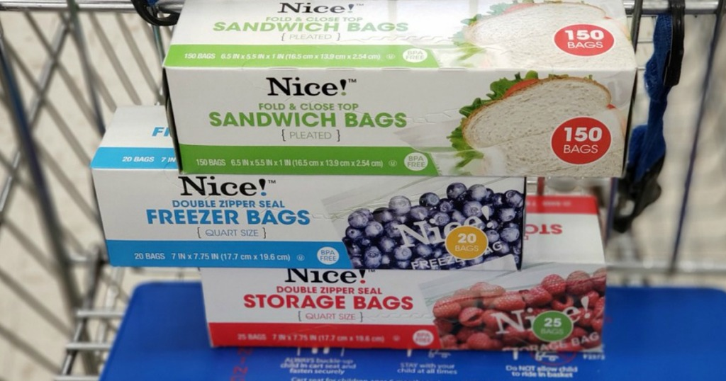 nice! storage, freezer and sandwich bags at walgreens