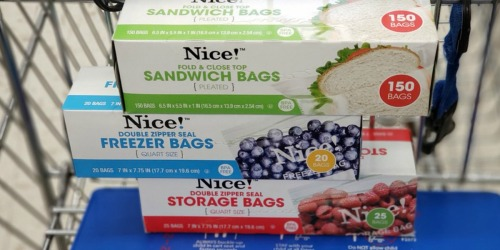 Nice! Sandwich, Storage & Freezer Bags Only 99¢ at Walgreens (In-Store & Online)