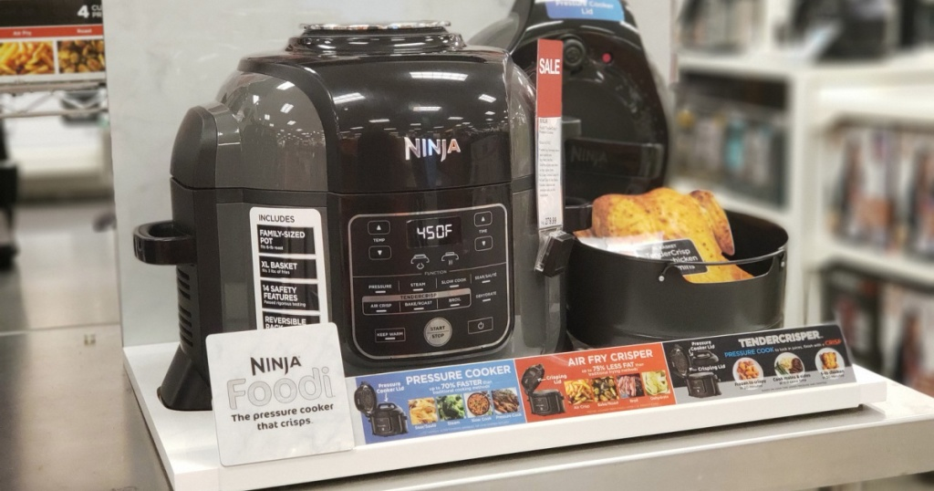 ninja foodi on display in store