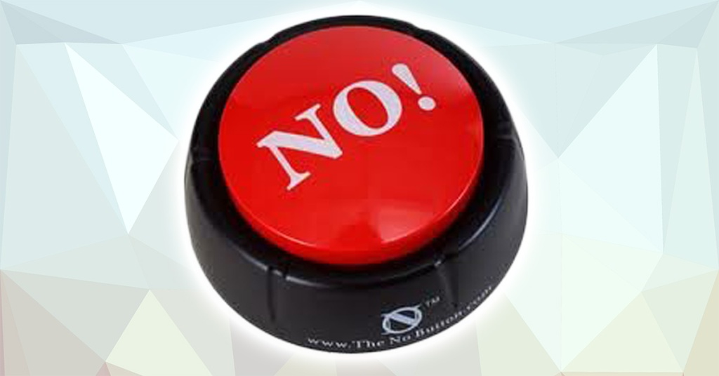 "big red ""no"" button from amazon"