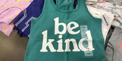 Old Navy Tanks Only $2 + Tees as Low as $3 (In-Store & Online)