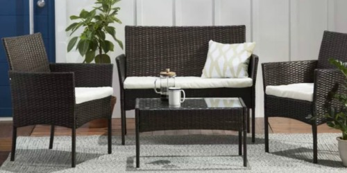 Rattan 4-Piece Patio Set w/ Cushions Only $169.99 Shipped (Regularly $400)