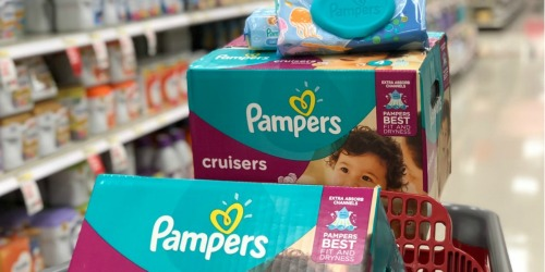 Over 250 Pampers Diapers AND 392 Baby Wipes Only $62.66 After Target Gift Card