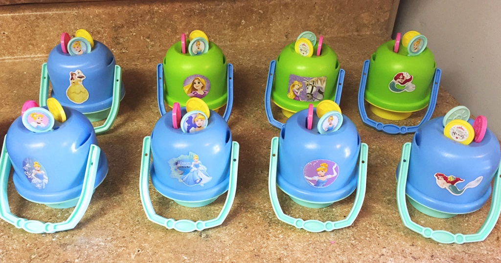 easy party favors tip – finished birthday favors princess bubble kits made from holiday clearance bubbles