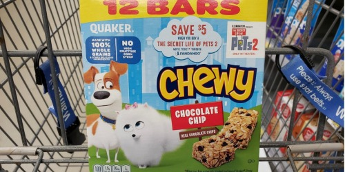 $5 Off The Secret Life of Pets 2 Movie Ticket w/ Quaker Chewy Bars Purchase + Walmart Deal Idea