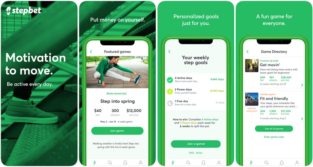 apps that pay you to lose weight — stepbet screenshots on ios