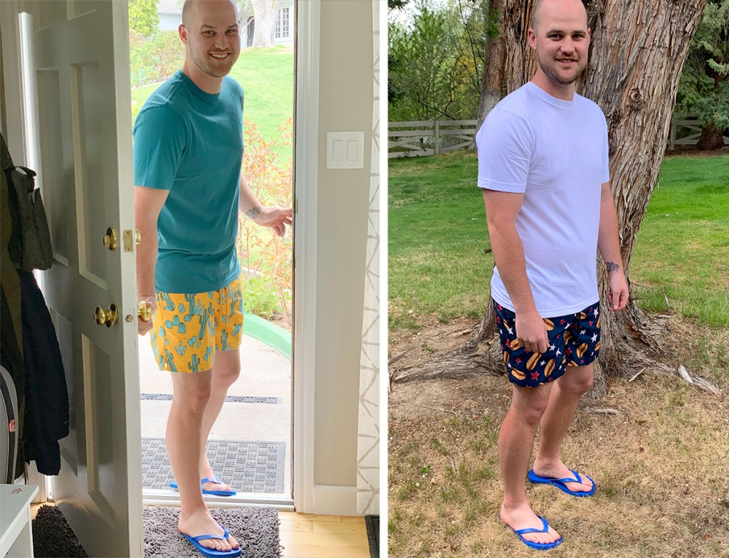 walmart wednesday – stetson wearing printed swim trunks
