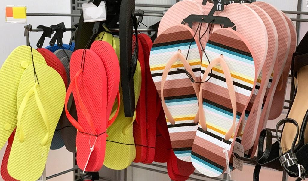 cheap flip flops – striped flip flops at walmart