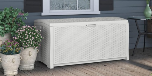 Suncast 99 Gallon Resin Deck Box Only $96 Shipped (Awesome Reviews) & More