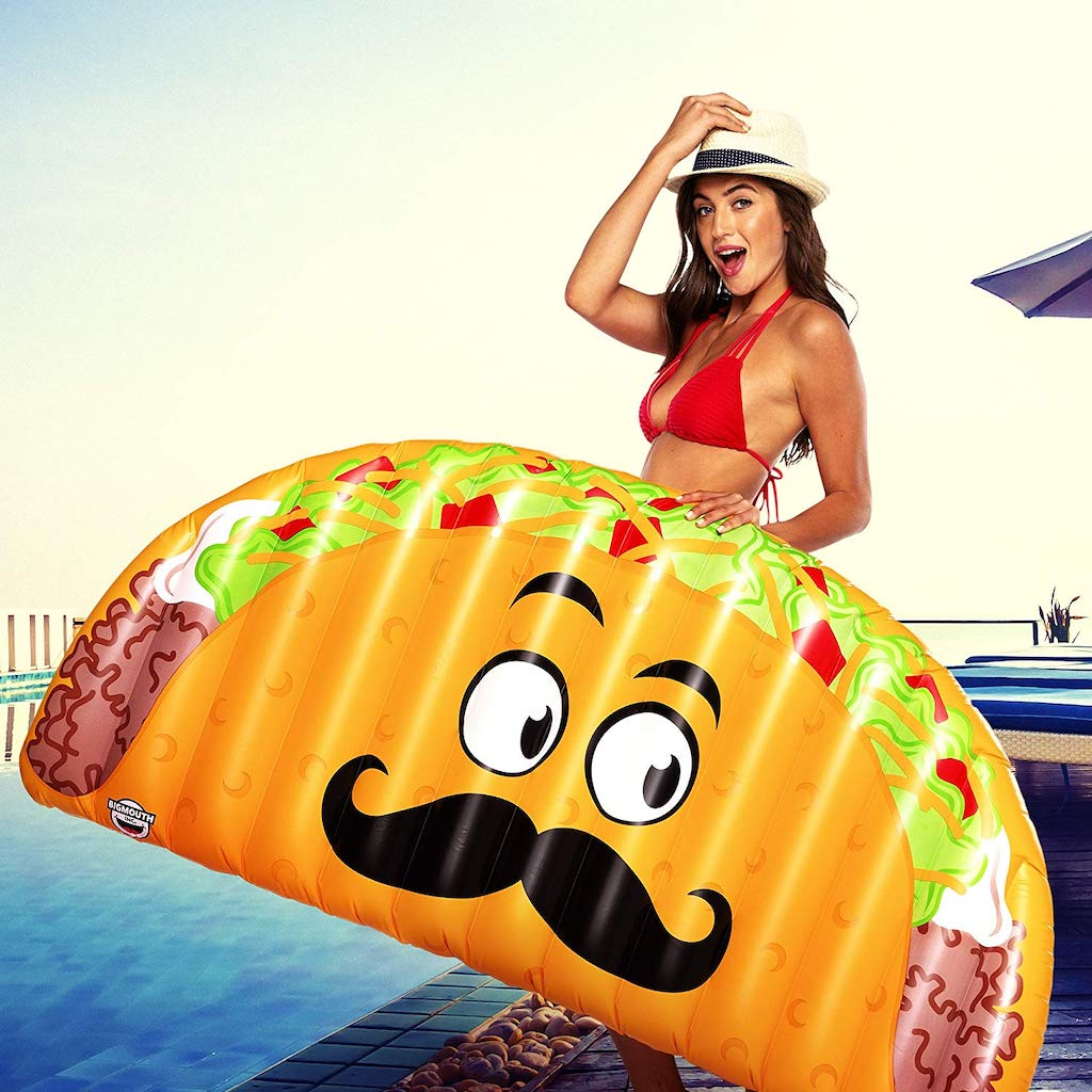 holding taco pool float