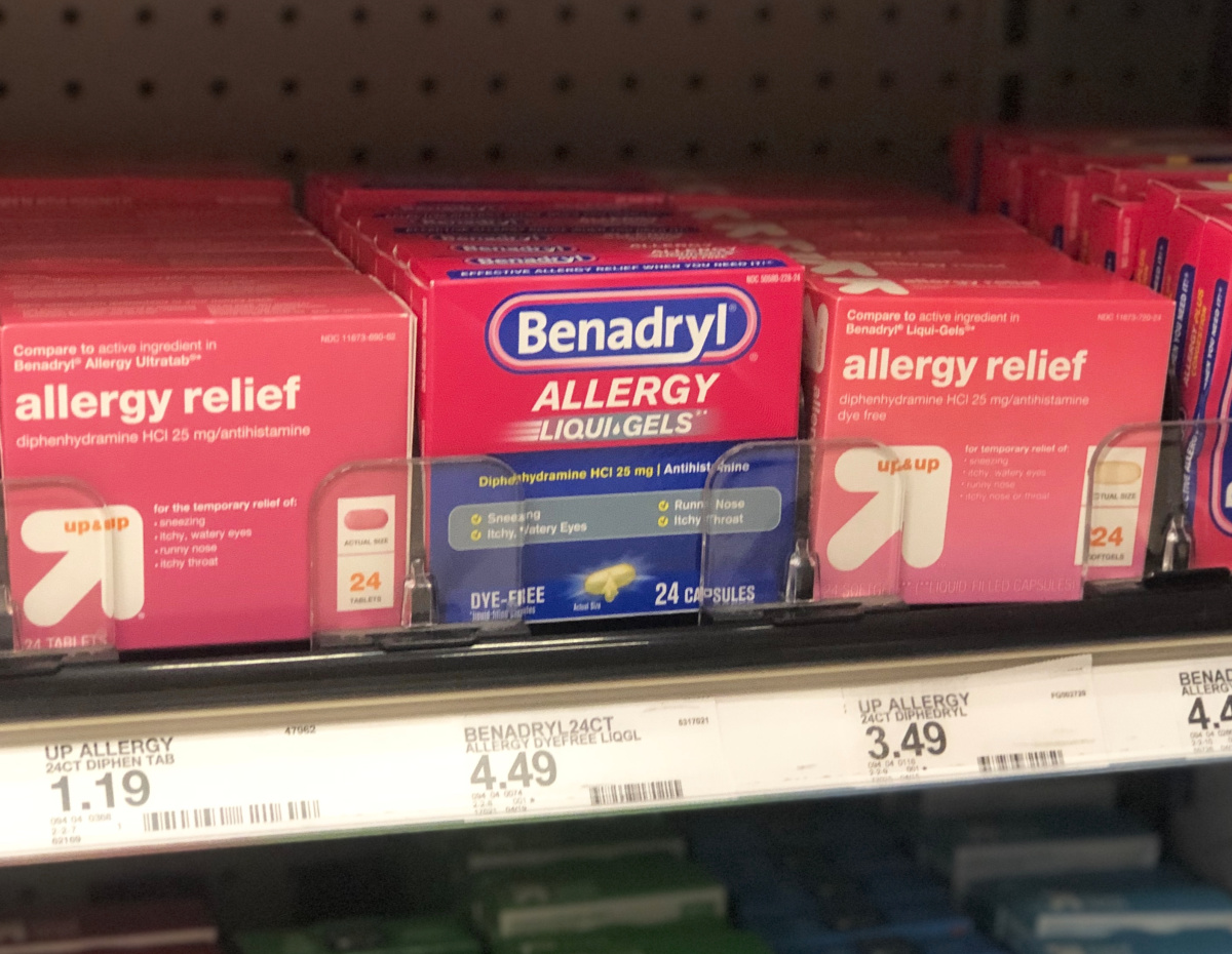 graphic about Benadryl Printable Coupon identified as Around 50% Off Benadryl Allergy Reduction at Concentrate - Hip2Help save