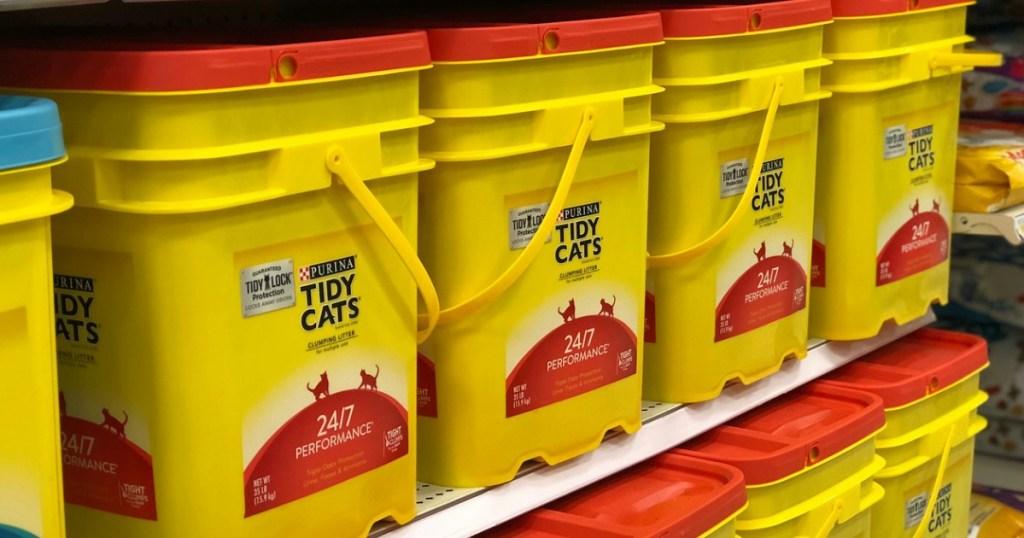 target tidy cats cat litter on store shelf