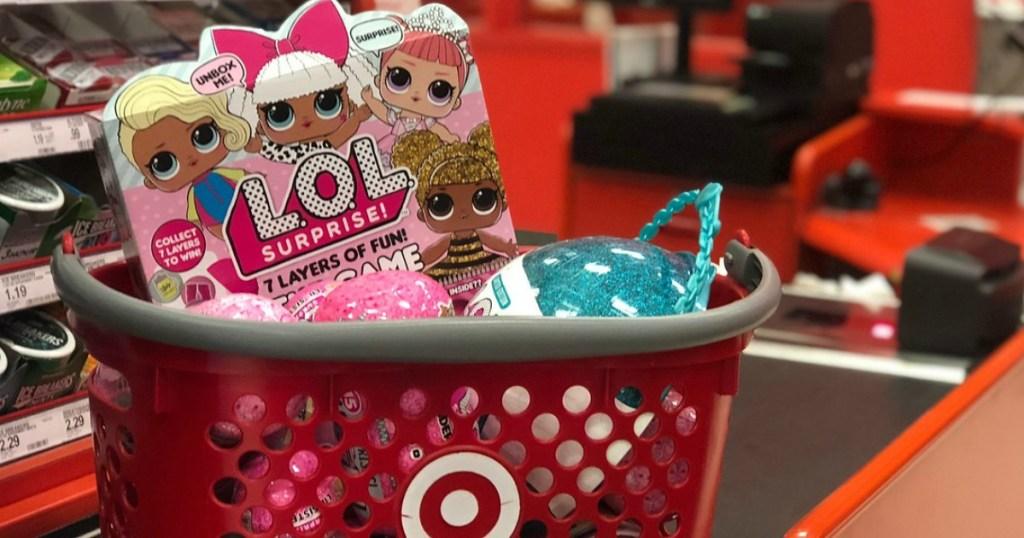 LOL toys in Target basket