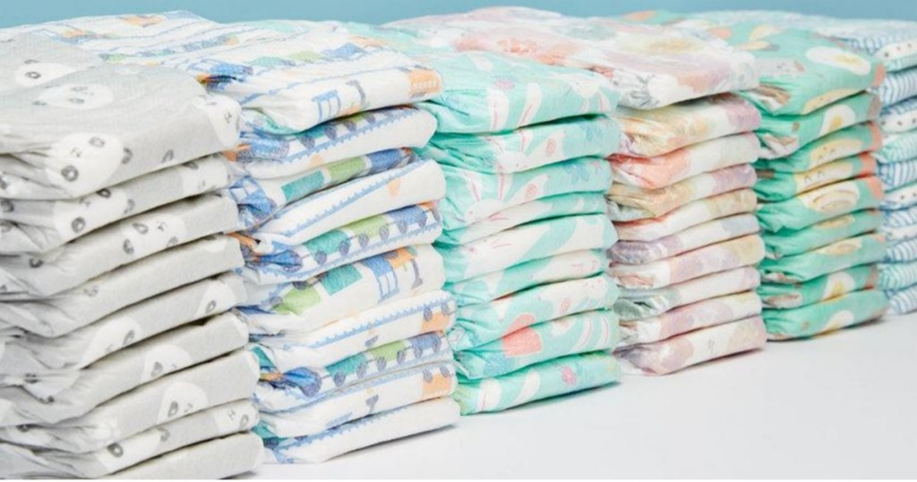 pile of honest company diapers