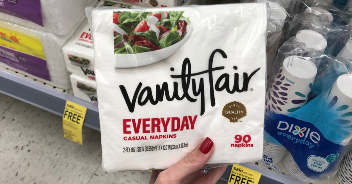 picture relating to Vanity Fair Coupons Printable known as Vainness Acceptable Day by day 90-Rely Napkins Just 90¢ Just about every at