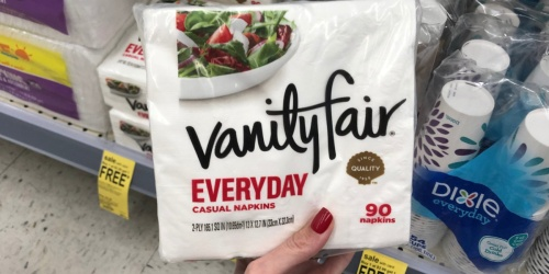 Vanity Fair Everyday 90-Count Napkins Only 90¢ Each at Walgreens