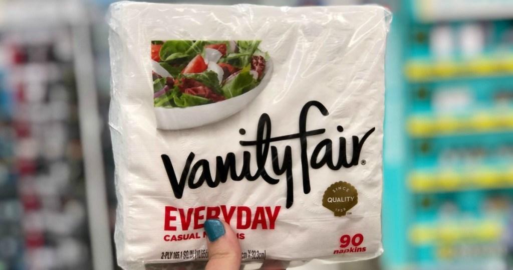 vanity fair napkins at walgreens