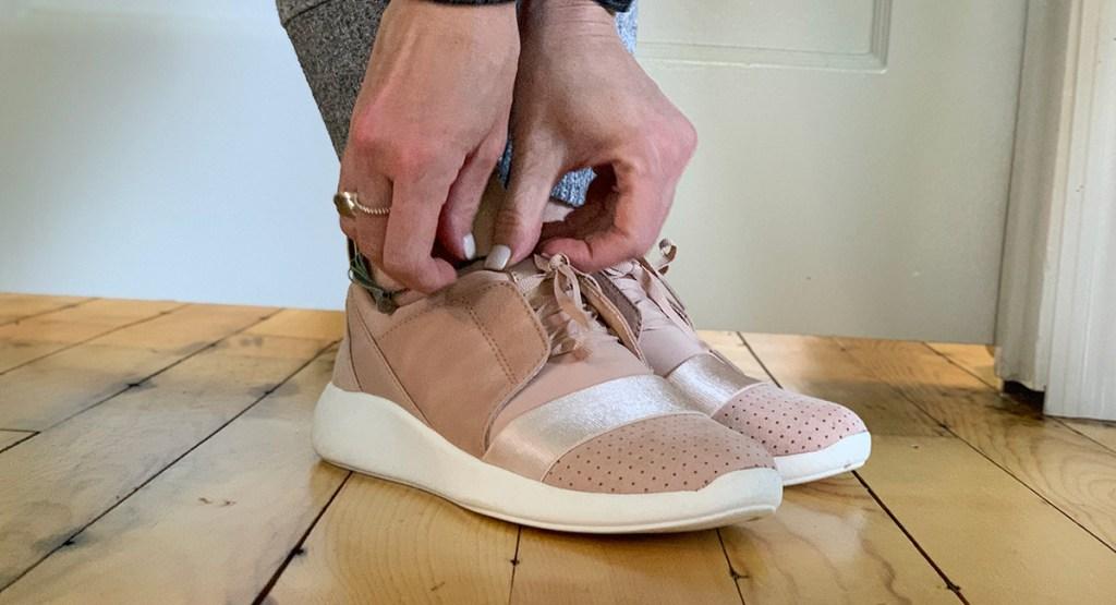 walmart shoes — pink casual wear sneakers