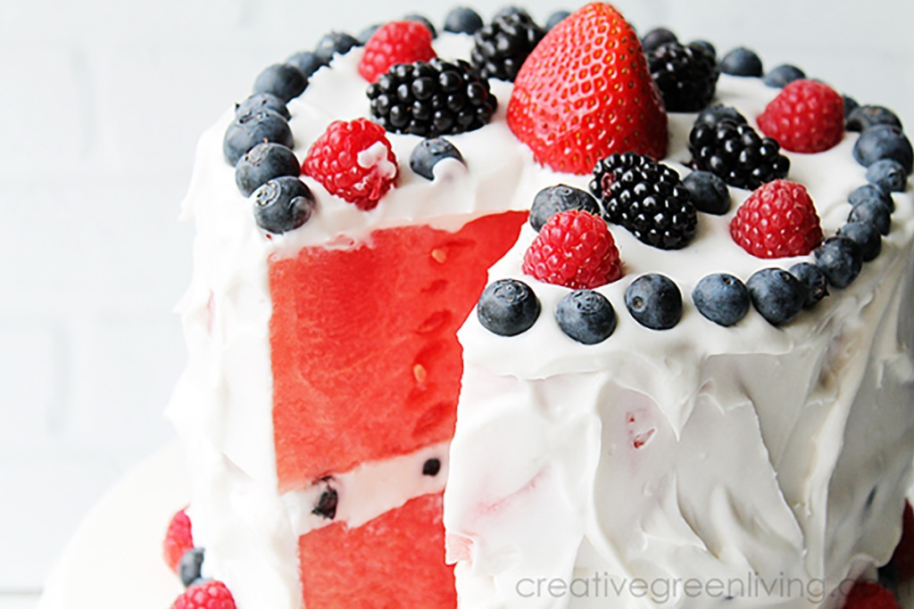 watermelon cake from creative green living