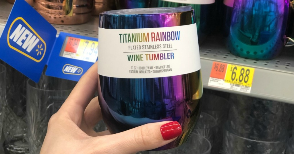 c651ec8fa50 Stainless Steel Iridescent Wine Tumbler Just $5 at Walmart (Perfect for  Summer)