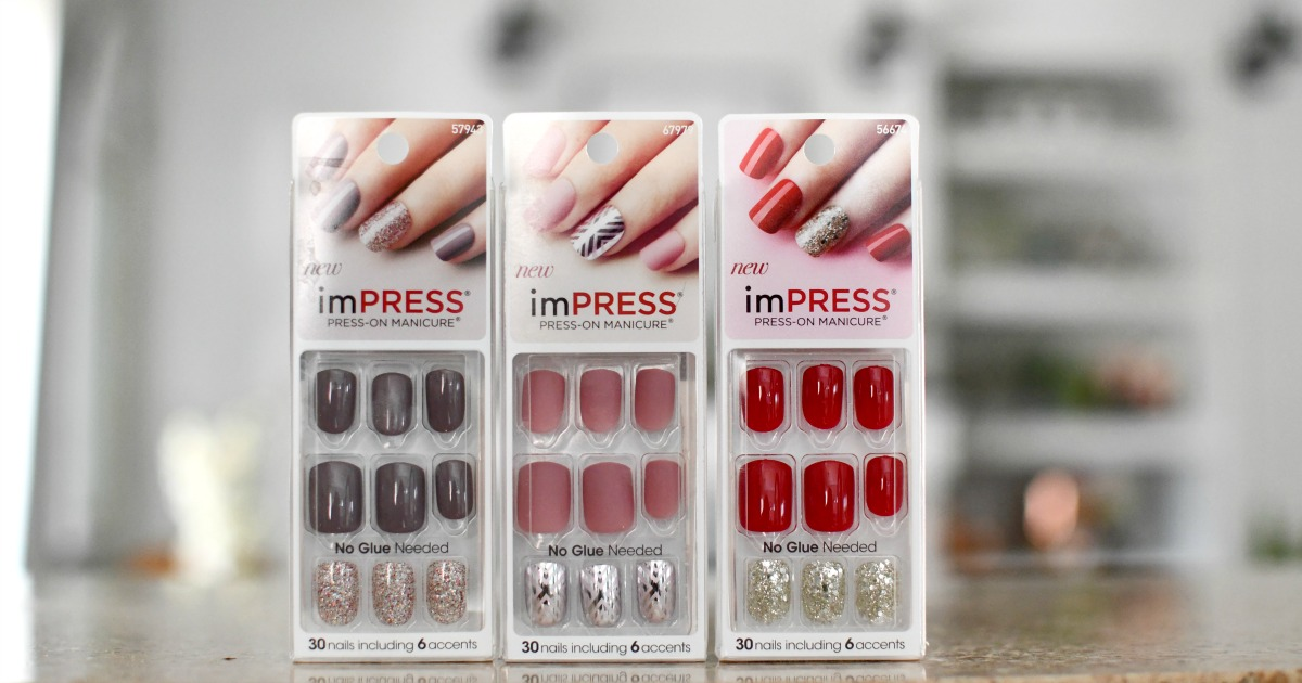 3 packages of Impress Nails
