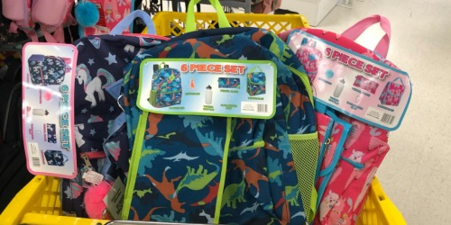 6-Piece Backpack Sets as Low as $13.74 at Office Depot/OfficeMax