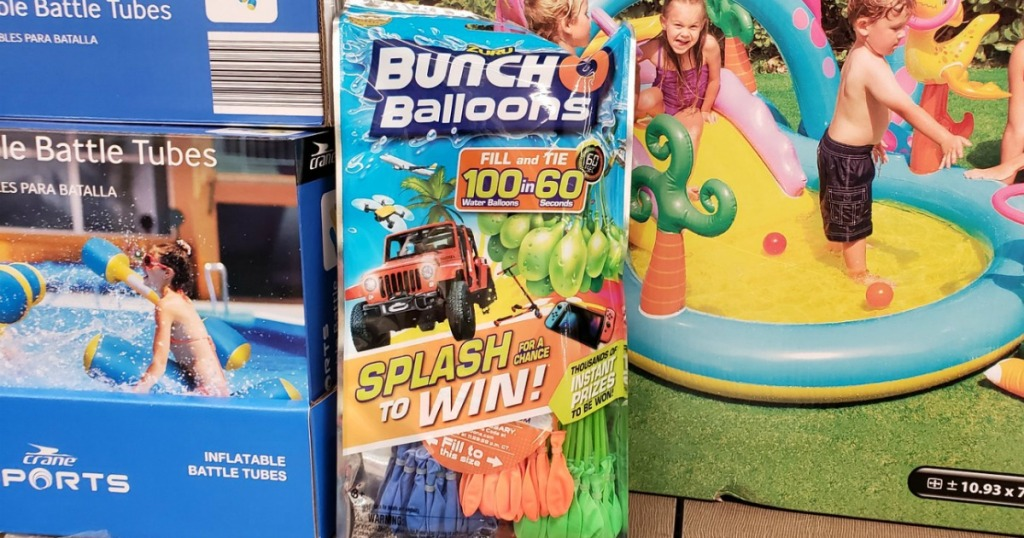 Bunch o balloons pack at ALDI on shelf