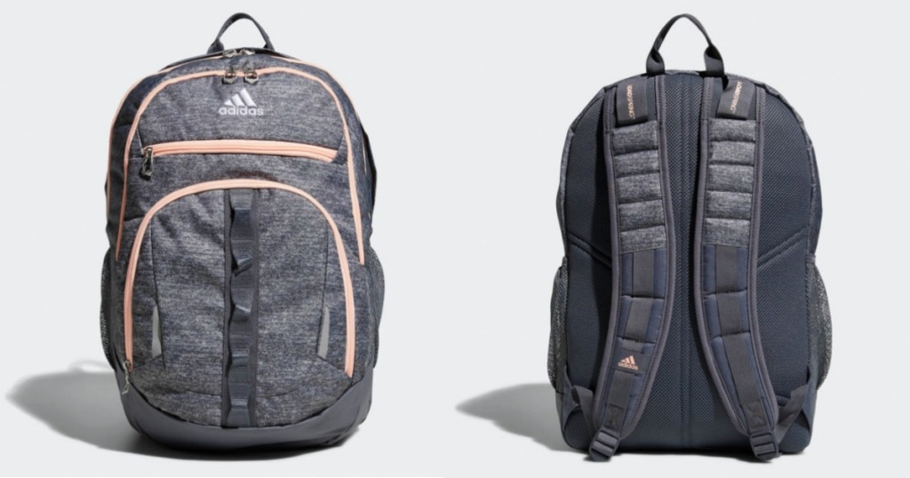 front and back view of adidas backpack
