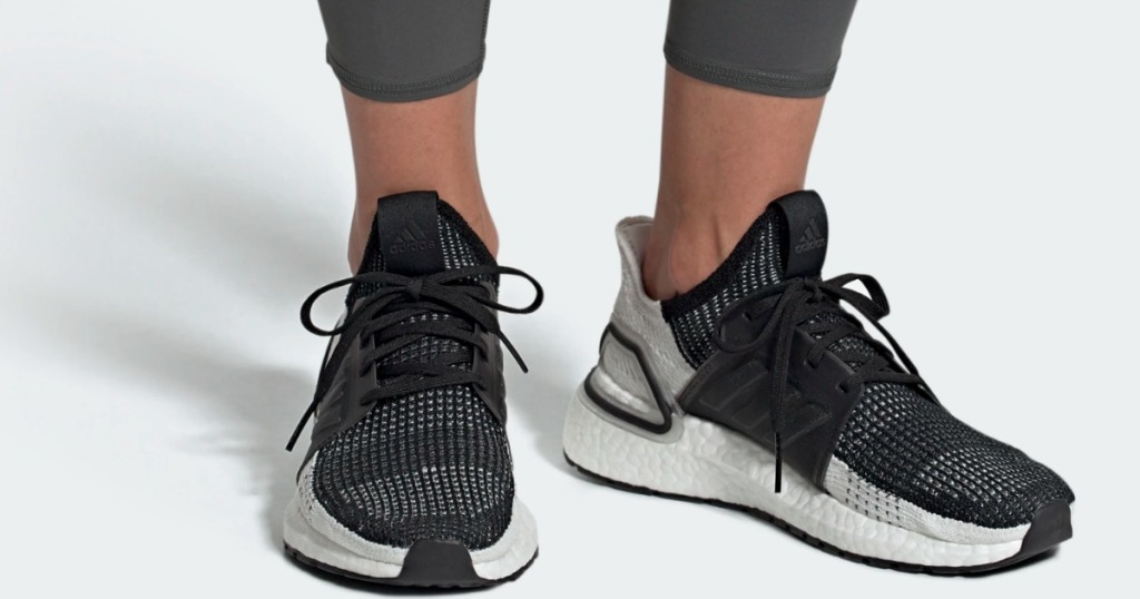 Woman wearing adidas ultraboost 19 shoes