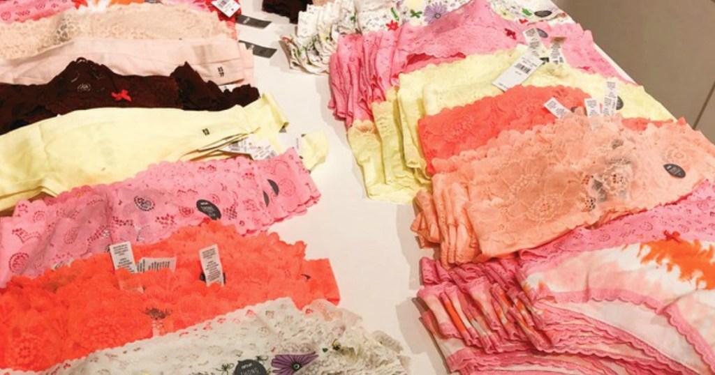 multiple pairs of aerie undies