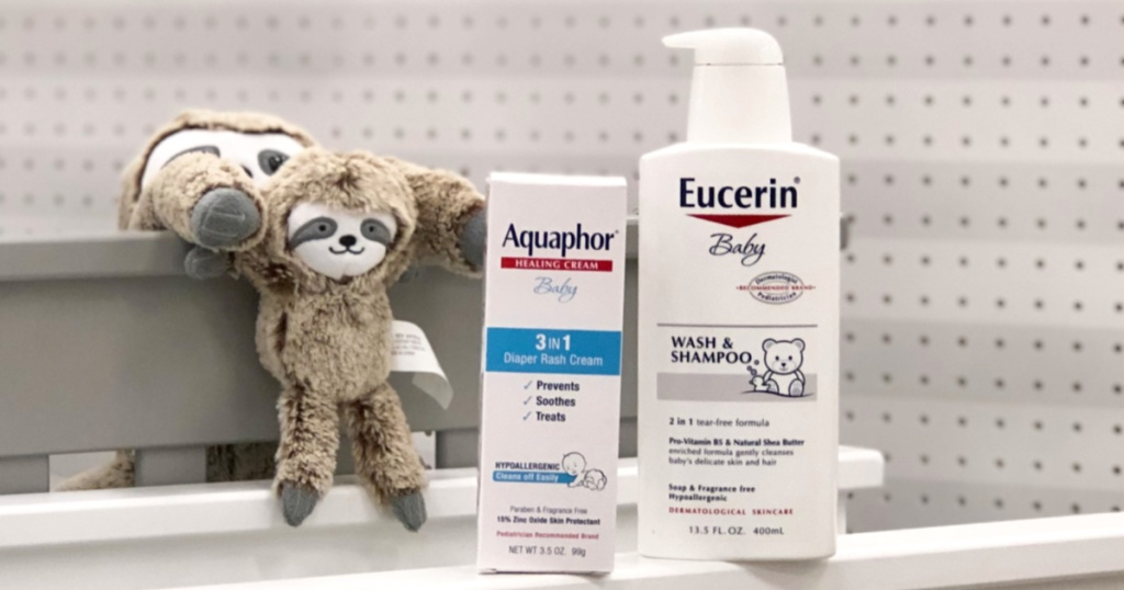 Aquaphor and Eucerin Baby Products