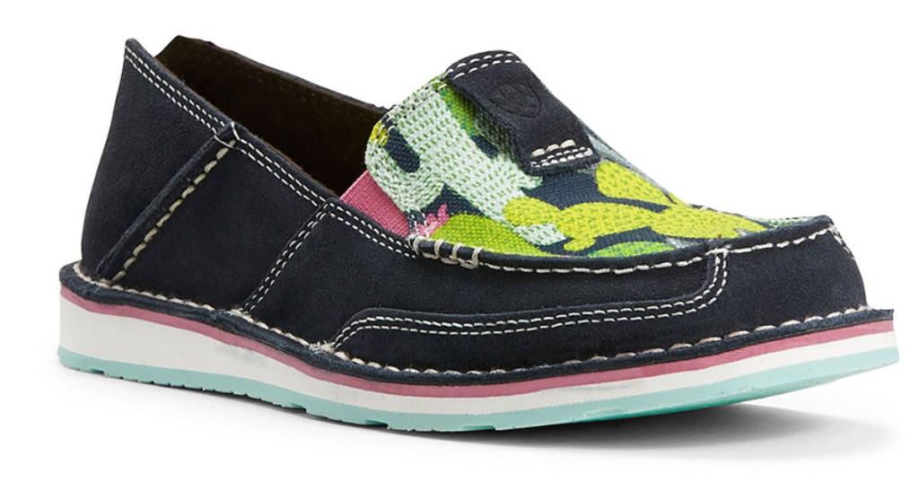 Navy & Green Cactus Cruiser Suede Slip-On Sneaker