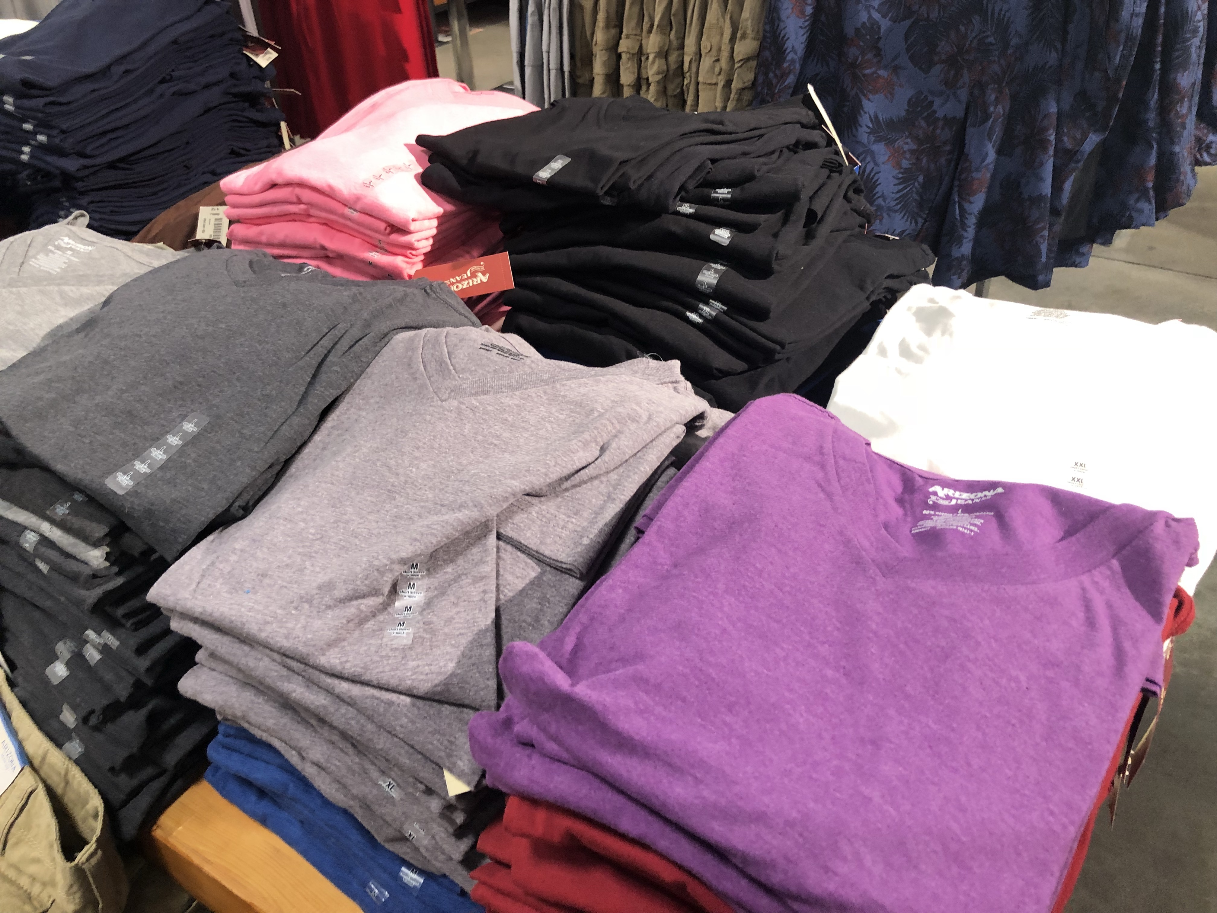 Arizona Men's Tees on Display at JCPenney