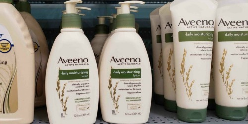 Aveeno Body Lotion 18oz Bottles as Low as $6 Shipped on Amazon