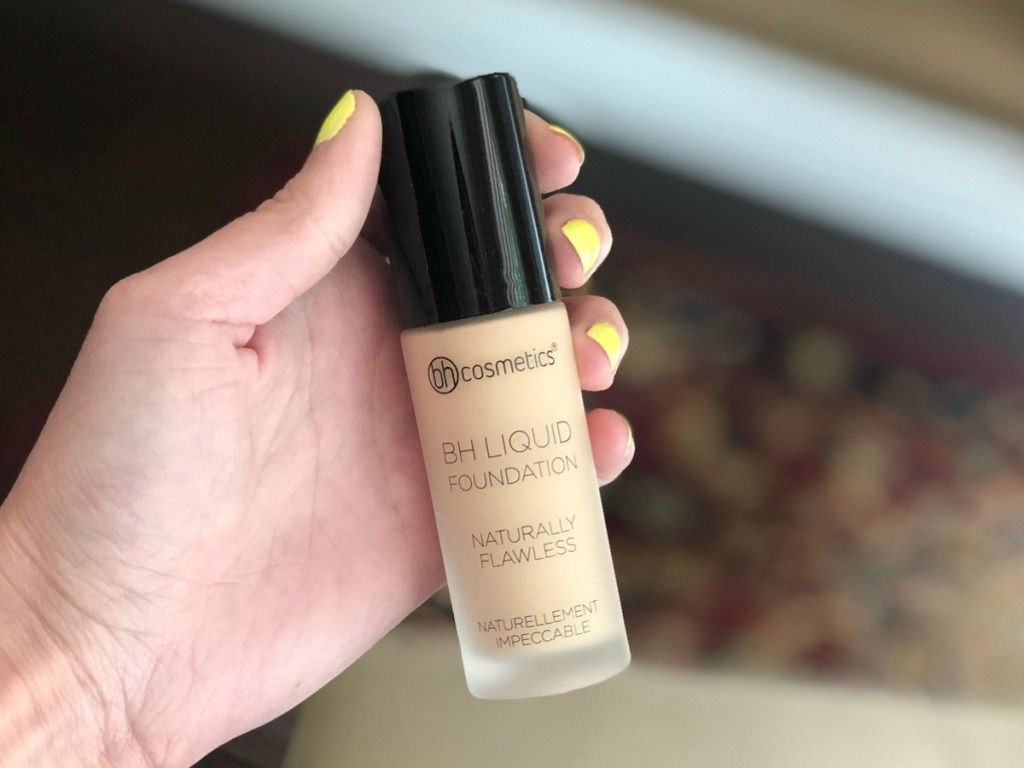 BH Cosmetics foundation held in hand