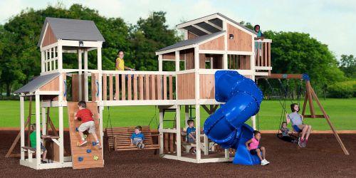Huge Savings on GIANT Skyline Retreat All Cedar Playset