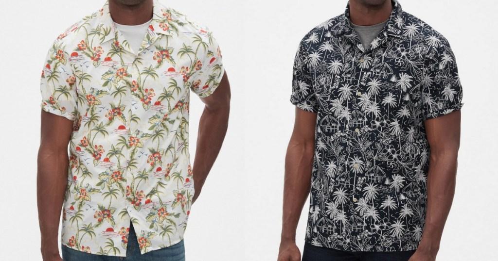 Banana Republic Camp shirts worn by two men