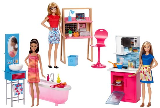 Barbie Dolls with furniture