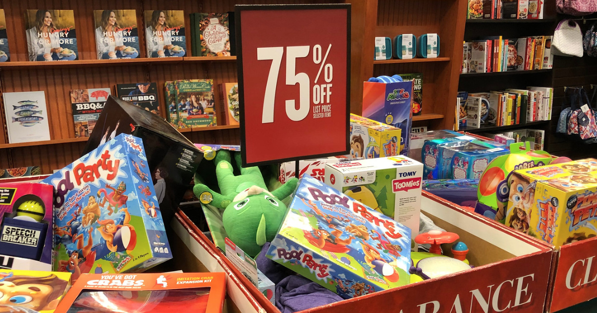 Barnes & Noble 75% off clearance table